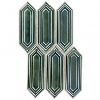 Soho Studio Baroque Sequin Capri Elongated Hexagon Hexagon Tile- BRQSEQNCPRI