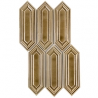 Soho Studio Baroque Sequin Firma Elongated Hexagon Hexagon Tile- BRQSEQNFIRMA