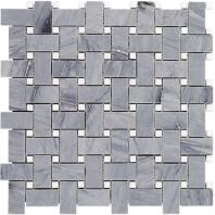 Soho Studio Basket Weave Burlington Gray and White Thassos Basketweave Tile- BSKBURLGRYTHS