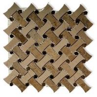 Soho Studio Fancy Weave Crema Marfil Light and Dark Emperador Basketweave Tile- FNCWCMLE