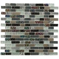 Soho Studio Fusion Ebony Blend 1/2xRandom Brick Interlocking Tile- FUSBRKEBNY