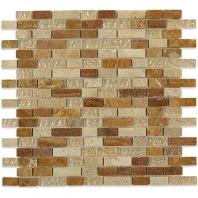Soho Studio Fusion Sedona Red Rocks 1/2xRandom Brick Interlocking Tile- FUSBRKSEDRED
