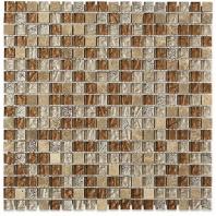 Soho Studio Fusion Saddle Leather 1/2x1/2 Square Tile- FUSSQSADLTH