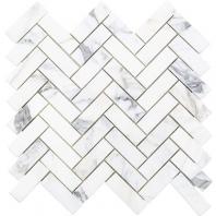 Soho Studio Calacatta 1X3 Herringbone Tile- HER1X3CALC