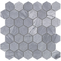 "Soho Studio Burlington Gray 2"" Hexagon Tile- HEX2INBURLGRY"