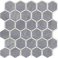 Soho Studio Honeycomb Burlington Gray and White Thassos Tile- HNCMBURLGRYTHS