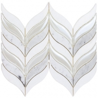 Soho Studio Botanic Winter Iridecent Glass Chevron Tile- MJBTNCWNTRTHCRIW