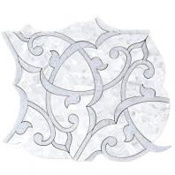 Soho Studio MJ Shambhala- Mother of Pearl and Blue Celeste Floral Tile- MJSHAMBHALA