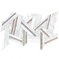 Soho Studio MJ Shards- Asian Statuary and Temple Gray Interlocking Tile- MJSHRDASTTMPLGRY