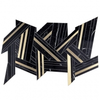 Soho Studio MJ Shards -Black Jade and Brass Interlocking Tile- MJSHRDBLKJDDBRS