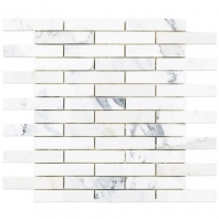 Soho Studio Calacatta 1x4 Piano Brick Interlocking Tile- PIANOBRKCALC