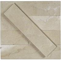 Soho Studio Stone Brushed Crema Marfil Subway Tile- STBRCRMR2X8