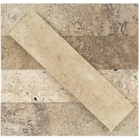 Soho Studio Stone Brushed Wild Travertine Subway Tile- STBRWLDTRV2X8