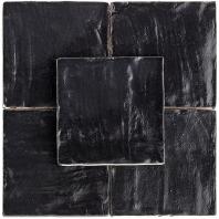 Soho Studio Myorka Black 4x4 Square Tile- TLEQMYRKBLACK4X4
