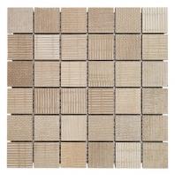 Soho Studio Organic Rug 2x2 Sand Mosaic Tile- TLGMORGSAND2X2