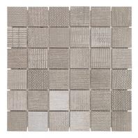 Soho Studio Organic Rug 2x2 Smoke Mosaic Tile- TLGMORGSMKE2X2