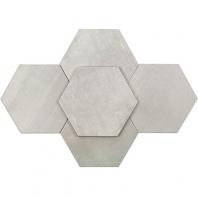 Soho Studio Elementary Argent 10 Inch Hexagon Tile- TLGTELMTRYARGT10