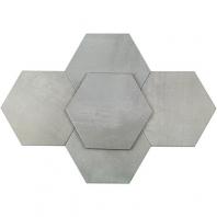 Soho Studio Elementary Gris 10 Inch Hexagon Tile- TLGTELMTRYGRIS10