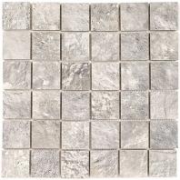 Soho Studio NuSlate Silver 2x2 Mosaic Tile- TLLFNUSSLVR2X2