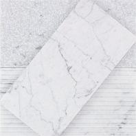 Soho Studio Textured Stone- 5x10 White Carrara Subway Tile- TXTSTNWHTCAR