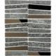 Soho Studio Vision Trapezoid Black Quartz w/ Bronze Mirror Stacked Tile- VISTRPZBKQZBZMR