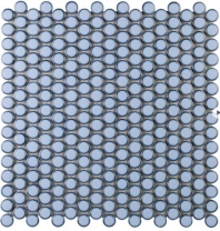 Simple Penny Rounds Azure Circle Tile by Soho Studio SMPPNYAZURE