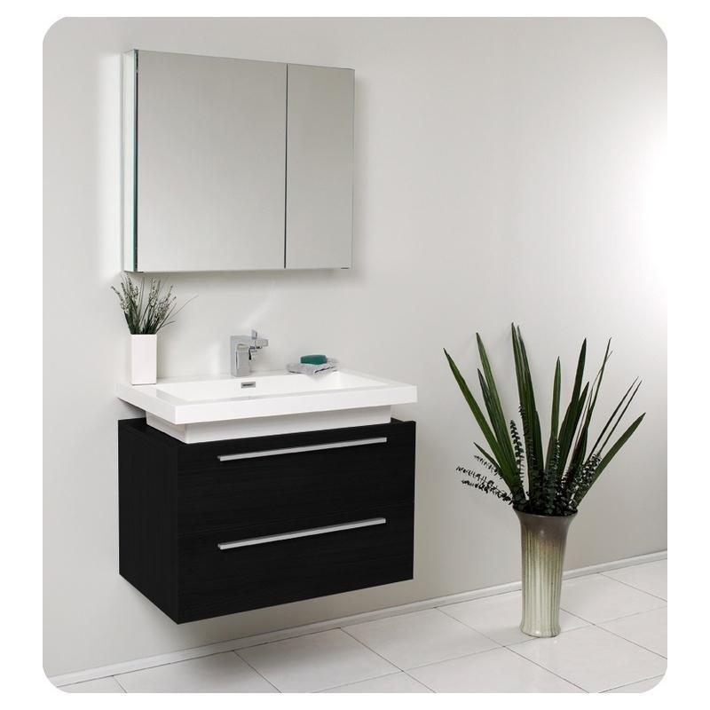 . Buy Fresca Fresca Medio Black Modern Bathroom Vanity w  Medicine