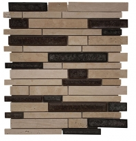 Merola Cristallo Staggered Brick Beige Interlocking Tile G-902