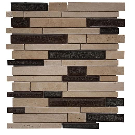 Merola Cristallo Staggered Brick Beige Interlocking Tile G-902