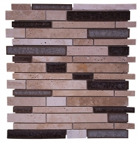 Merola Cristallo Staggered Brick Noce Interlocking Tile G-906
