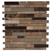 Merola Cristallo Staggered Brick Grigio Interlocking Tile G-910