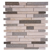 Merola Cristallo Staggered Brick Verde Interlocking Tile G-914