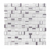 Merola Crosshatch Bianco Tile G-400