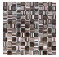 Merola Crosshatch Espresso Tile G-401
