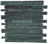Merola Galaxy Black Brick Interlocking Tile G-130