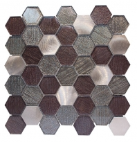 Merola Galaxy Bronze Hexagon Tile G-142