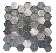 Merola Galaxy Silver Hexagon Tile G-143