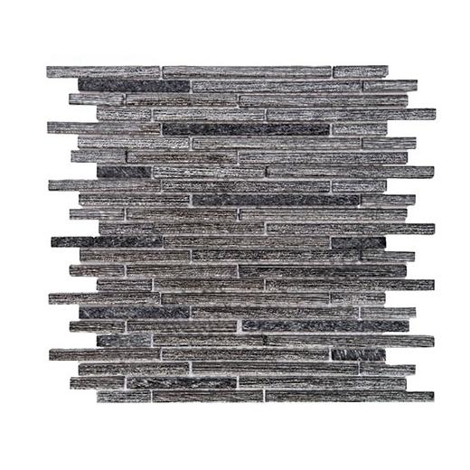 Merola Galaxy Black Brick Interlocking Tile G-160