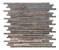 Merola Galaxy Brown Brick Interlocking Tile G-161