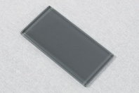 Merola Gotham 3x6 Dark Grey Subway Tile G-836