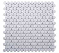 Merola Penny Round Glossy White Penny Round Tile MER-PENNY-GWT