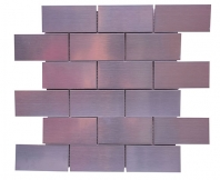 Merola Stainless Mosaic Silver Subway Tile G-296