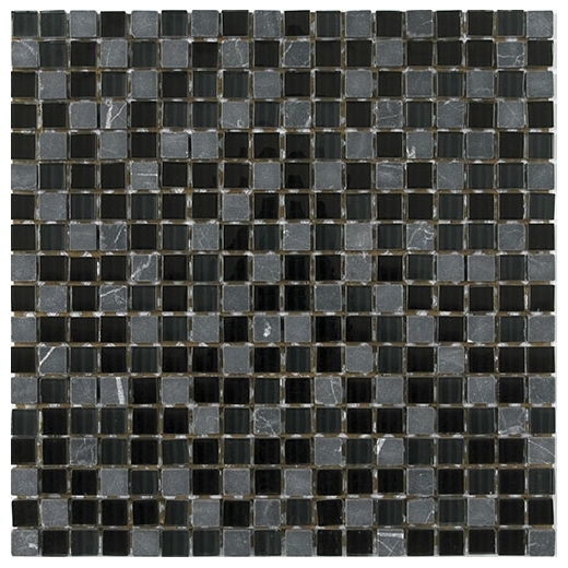 Merola Vetro Marmi Gl 5 8x5 8 Black Tile G 283 Home Decor Az