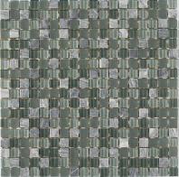 Merola Vetro Marmi Glass 5/8x5/8 Grey Mystique Tile G-288