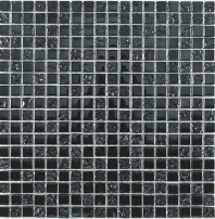 Merola Vetro Marmi Glass 5/8x5/8 Spash Silver Tile G-302