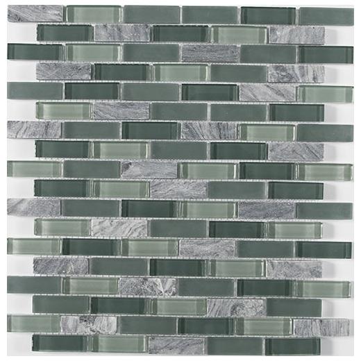 Glasmosaik Mix Gris translucide cristal Brick 25x50x8 art:76-0204/_f1qm