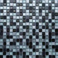 Merola Vetro Marmi Metal Mix Grey Metallic Tile G-326