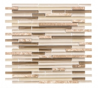 Merola Vetro Marmi Sleek Latte Interlocking Tile G-268