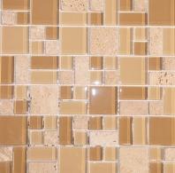 Merola Victoria Glass Modular Almond Tile G-252