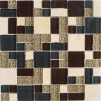 Merola Victoria Glass Modular Burgundy Tile G-297